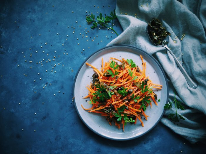 Carrot and Caper Leaf Salad