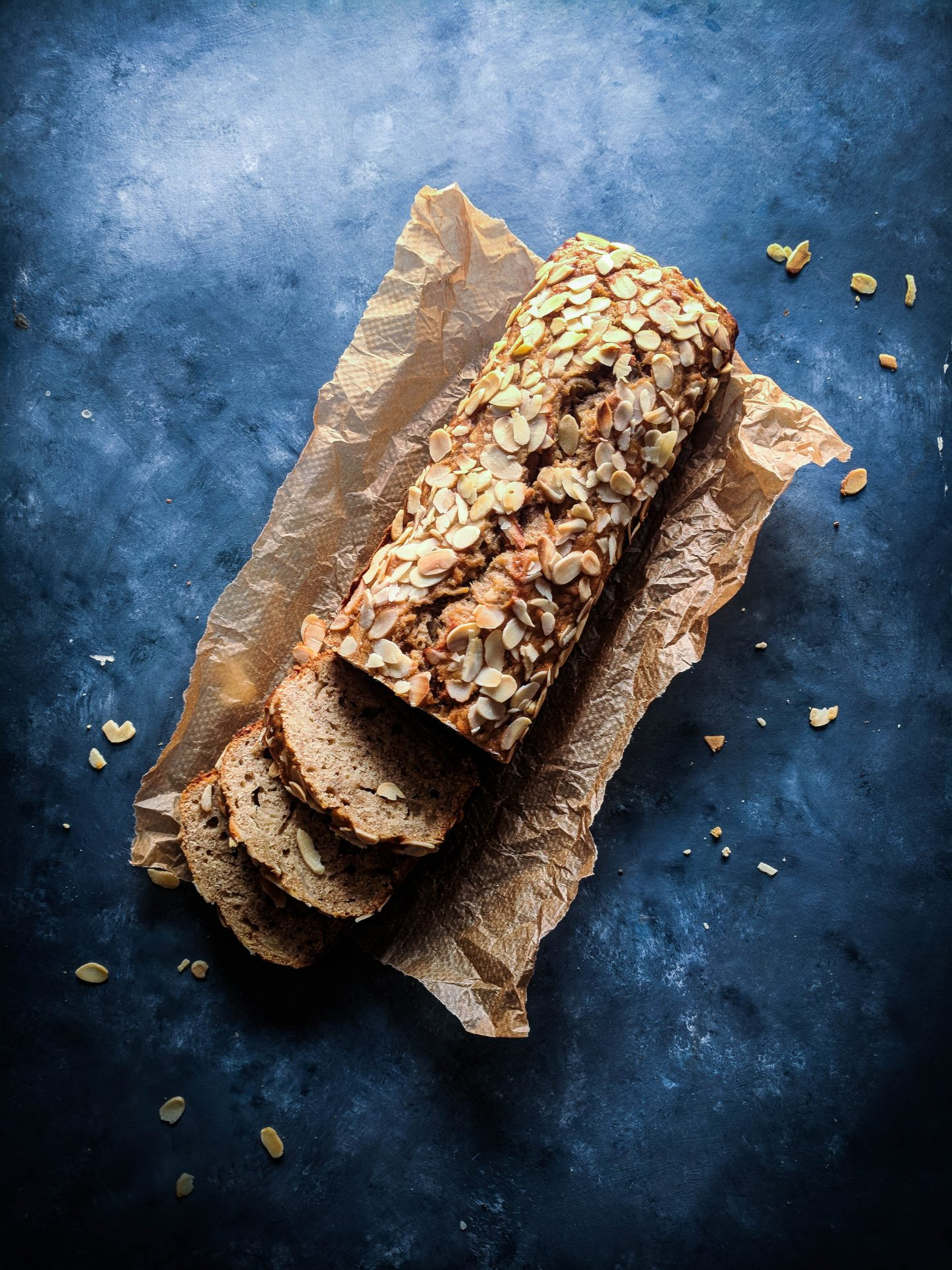 A Storecupboard Banana and Almond Loaf
